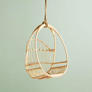 Anthropologie Woven Hanging Chair