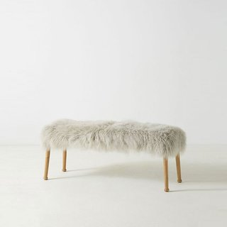 Anthropologie Luxe Wool Bench