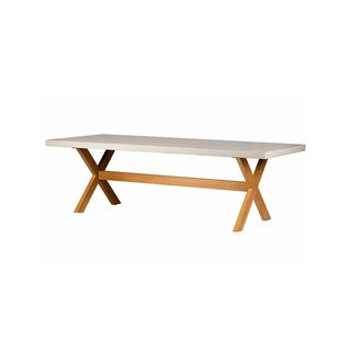 Hart Concrete Design Wood X Dining Table