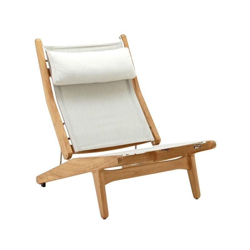 Gloster Bay Reclining Chair Buffed Teak