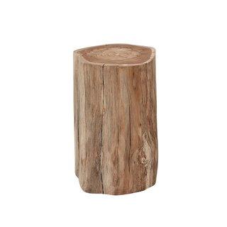 Gloster Raw Teak Log Side Table
