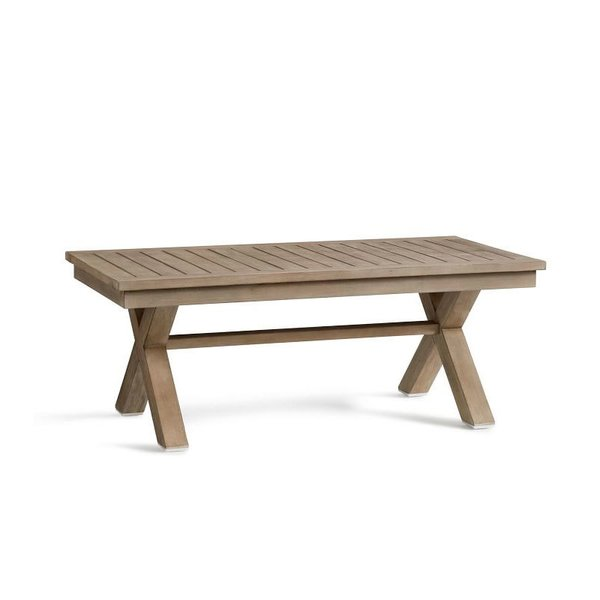 Pottery Barn Indio X-Base Coffee Table