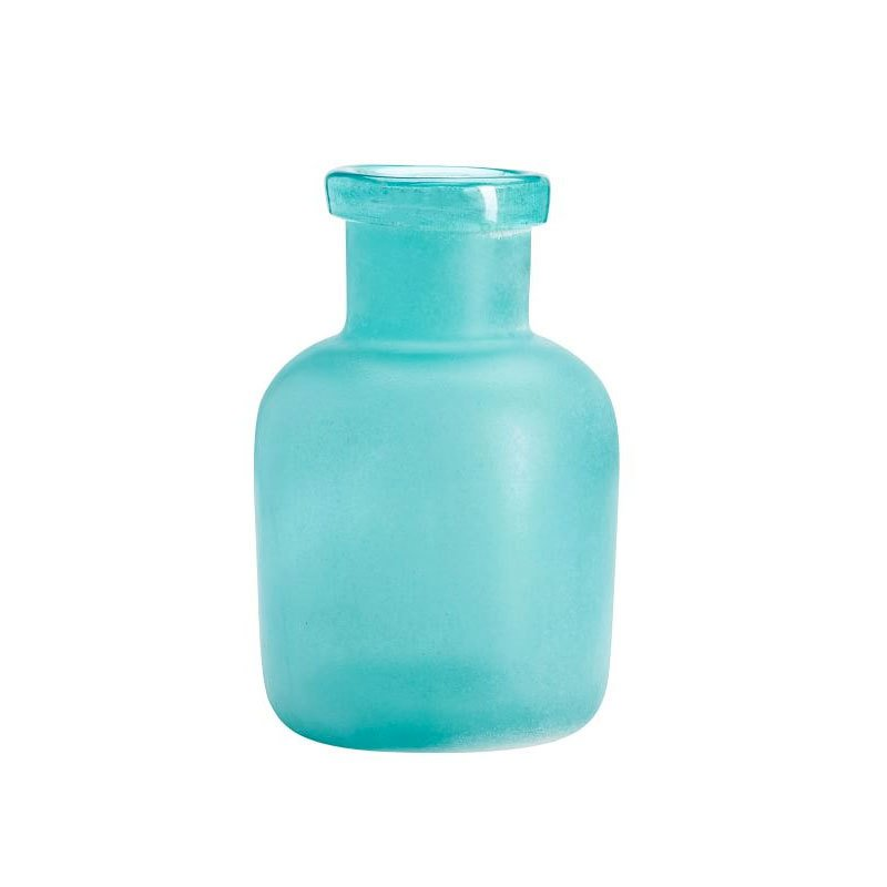 Seaglass Vase In Frosted Turquoise Medium By Pottery Barn Dwell