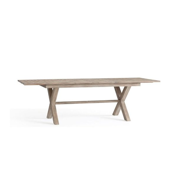 Pottery Barn Indio X-Base Extending Dining Table
