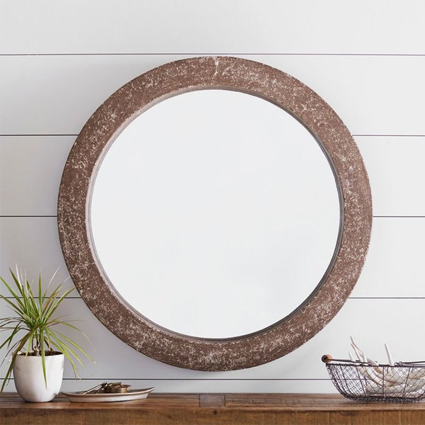 Pottery Barn City Round Outdoor Mirror