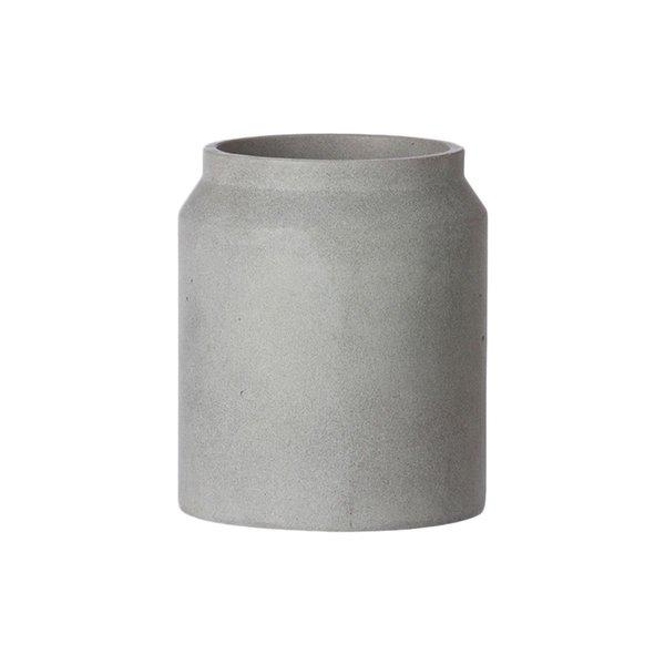 Ferm Living Light Grey Concrete Pot