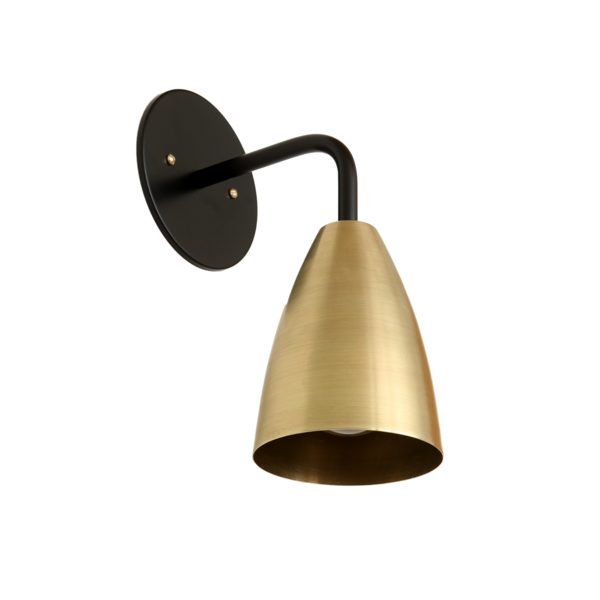 Onefortythree Shaded Sconce: Metal Shade