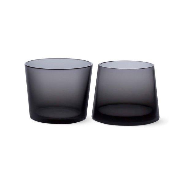 MoMA Black Whiskey Glass Set