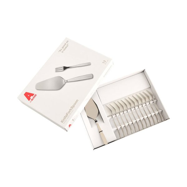 Alessi KnifeForkSpoon Set – One Cake Server, 12 Pastry Forks