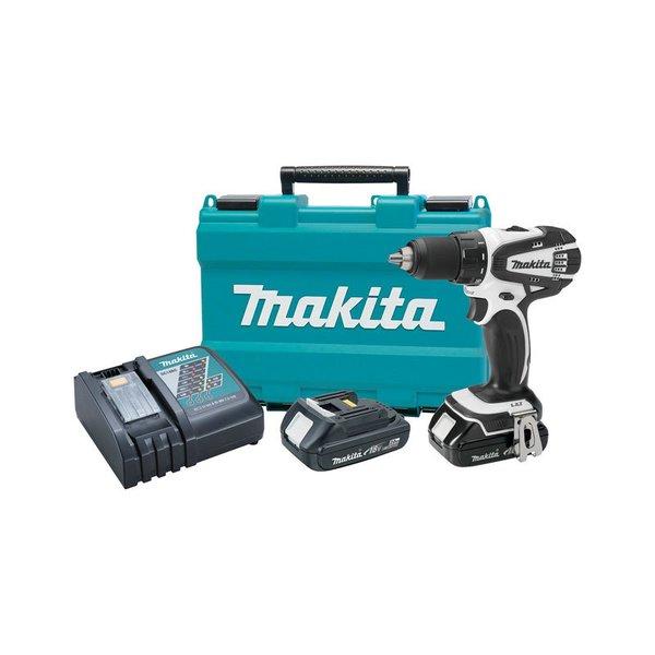 Makita 18V Compact Lithium-Ion Cordless Driver-Drill Kit