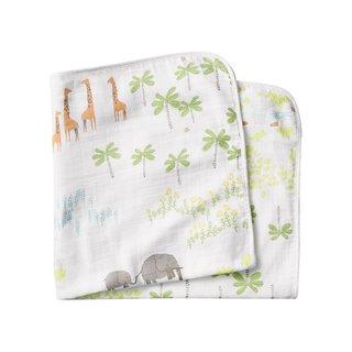 Coyuchi Jungle Print Hooded Towel