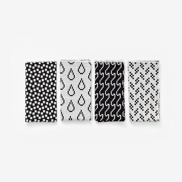 Susan Kare Bitmap Textiles – Napkins Black/White