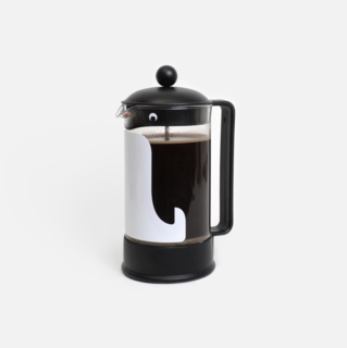Penguin French Press Sticker
