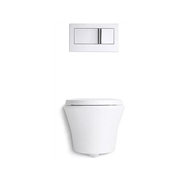 Kohler Veil Toilet and Bevel Flush Actuator Plate