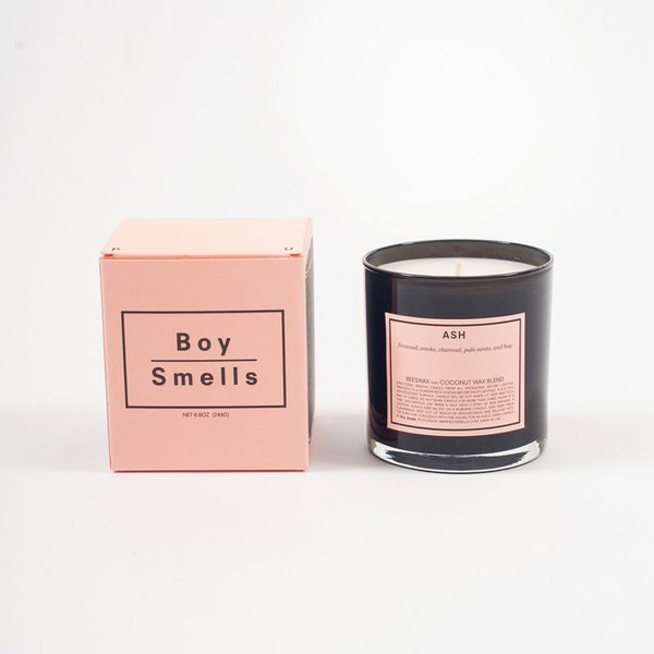 Boy Smells Candle