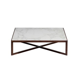 Krusin Square Coffee Table with Marble Table Top