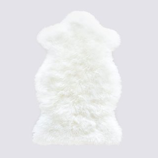 The Citizenry Sheepskin Throw - Small White