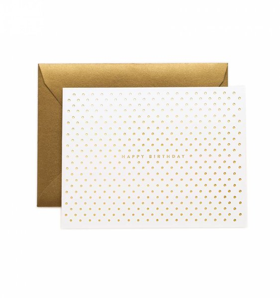 Gold Dots Greeting Card by Rifle Paper Co.