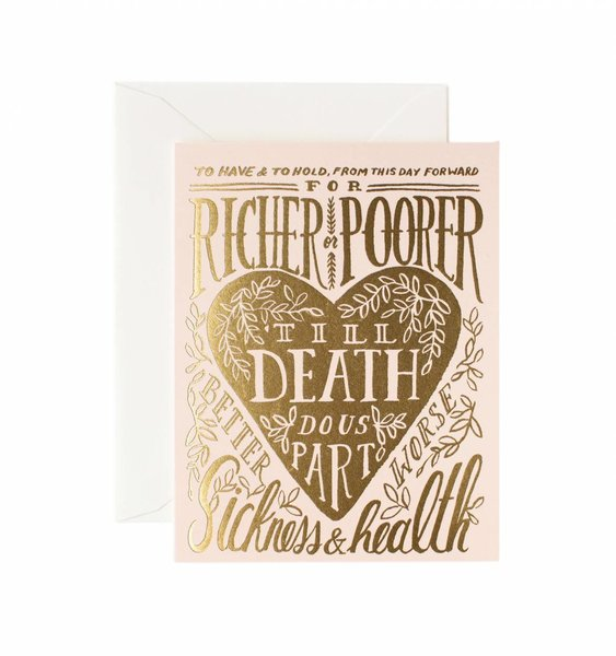 Till Death Do Us Part Greeting Card by Rifle Paper Co.