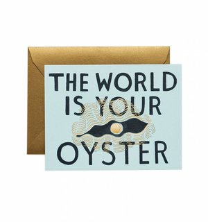 World Is Your Oyster Greeting Card by Rifle Paper Co.