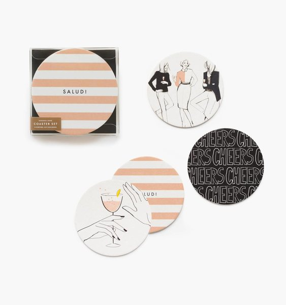 Cheers! Coaster Set by Rifle Paper Co.