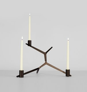 Roll & Hill Agnes Table Candelabra -  3 Candles