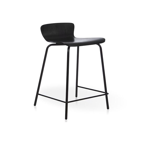 Crate & Barrel Felix Black Counter Stool