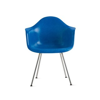 eames molded fiberglass armchair with 4 leg base by design within