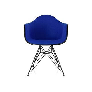 Eames Upholstered Armchair with Wire Base