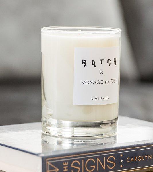 Batch x Voyage et Cie Lime-Basil Candle
