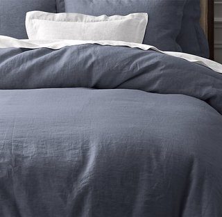 Restoration Hardware Vintage-Washed Belgian Linen Duvet Cover