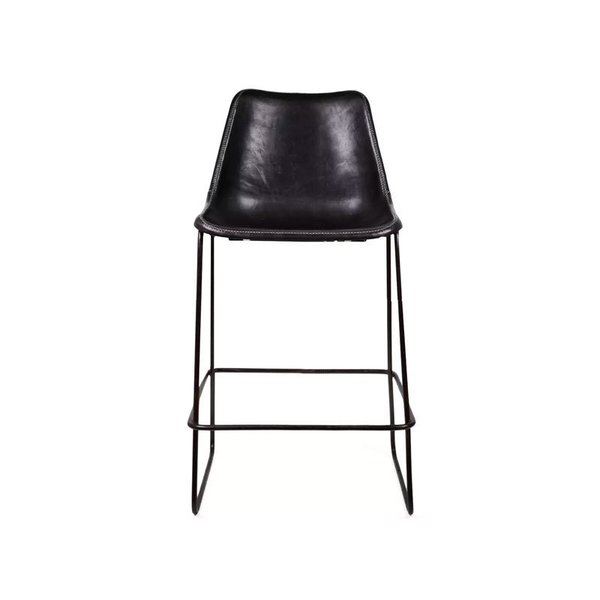 ABC Carpet & Home Giron Leather Counter Stool