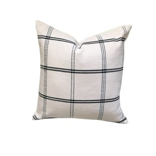 Thimble & Cloth Plaid-Onyx Pillow Cover