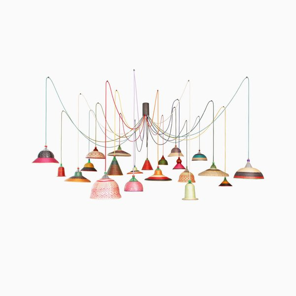 Alvaro Catalán de Ocón PET Lamp Chandelier