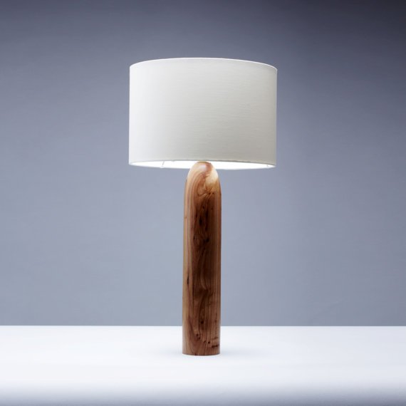 Elm Wood Tower Table Lamp