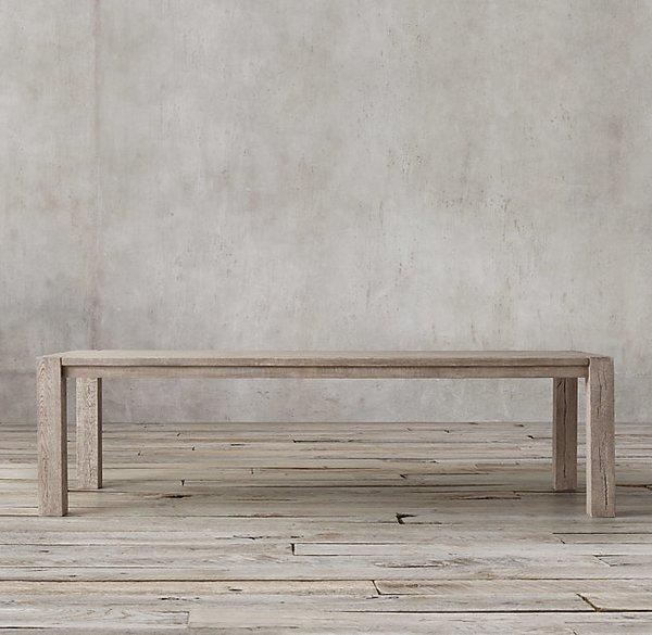 Restoration Hardware Reclaimed Russian Oak Rectangular Dining Table