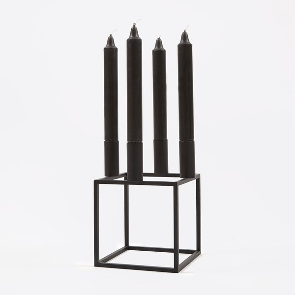 Lassen Kubus 4 Candle Holder in Black
