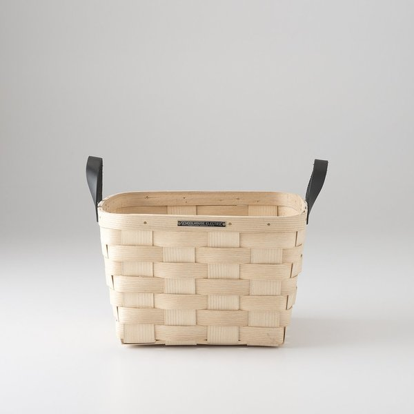 Schoolhouse Electric White Ash Basket – Square