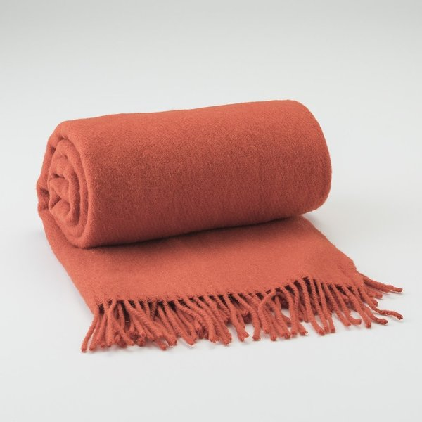 Schoolhouse Electric Tangerine Fringed Throw