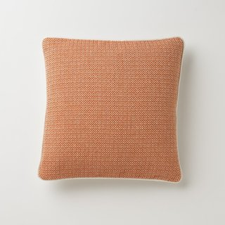 Schoolhouse Autumn Orange Throw Pillow
