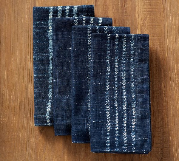 Pottery Barn Shibori Dot Napkin, Set of 4