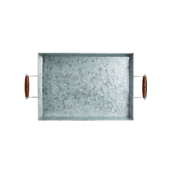 Pottery Barn Galvanized Metal Rectangular Tray