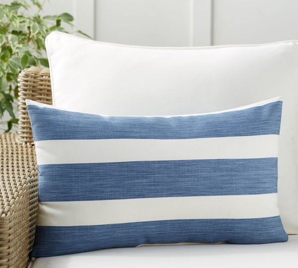 Pottery Barn Noah Stripe Indoor/Outdoor Pillow