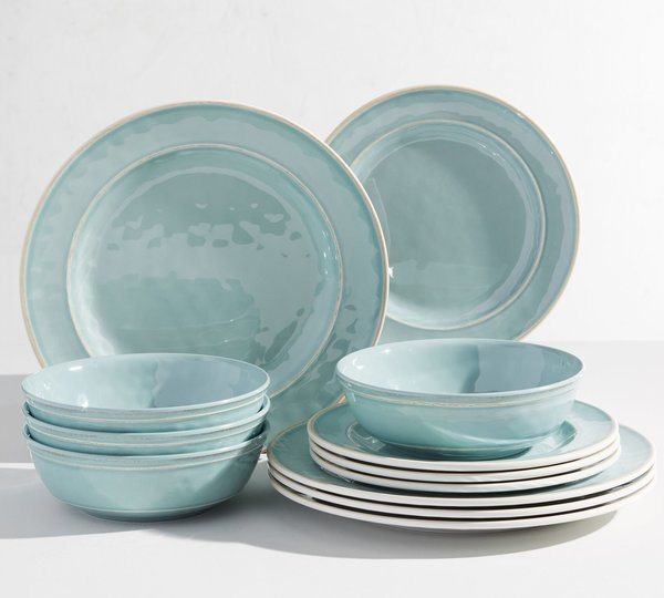 Pottery Barn Cabana Melamine, 12-Piece Set