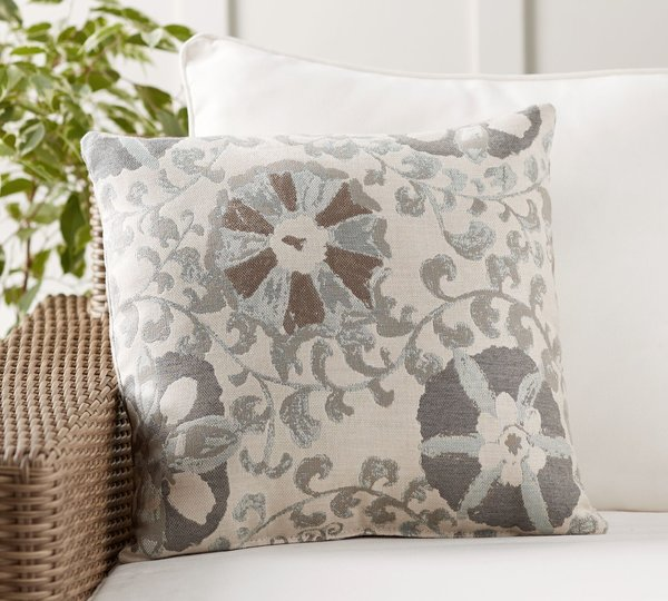 Pottery Barn Sunbrella Alisa Suzani Jacquard Indoor/Outdoor Pillow