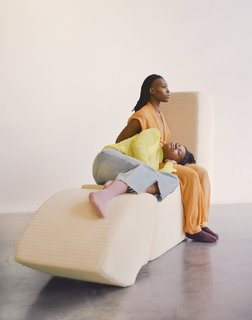 """Mensah describes the pieces as """"the first collection of furniture exploring face-to-face interaction between people and its deterioration."""""""