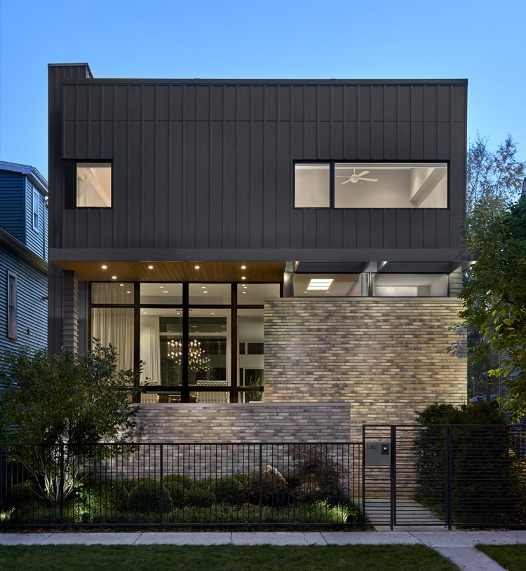 Exterior, Brick Siding Material, Flat RoofLine, House Building Type, Wood Siding Material, Glass Siding Material, and Concrete Siding Material  Eastwood Residence by Searl Lamaster Howe