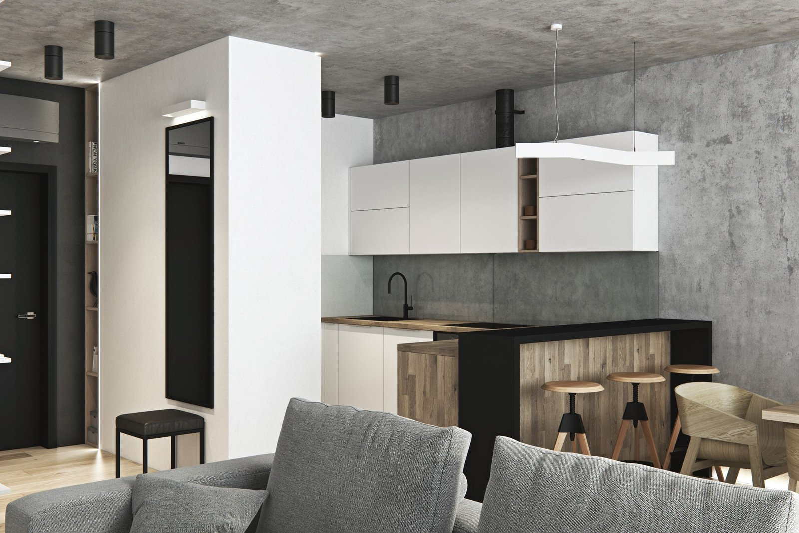Kitchen  Interior Design Project in Contemporary Style by Geometrium