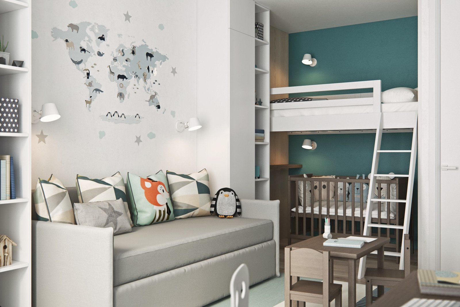 Kids Room  Interior Design Project in Contemporary Style by Geometrium