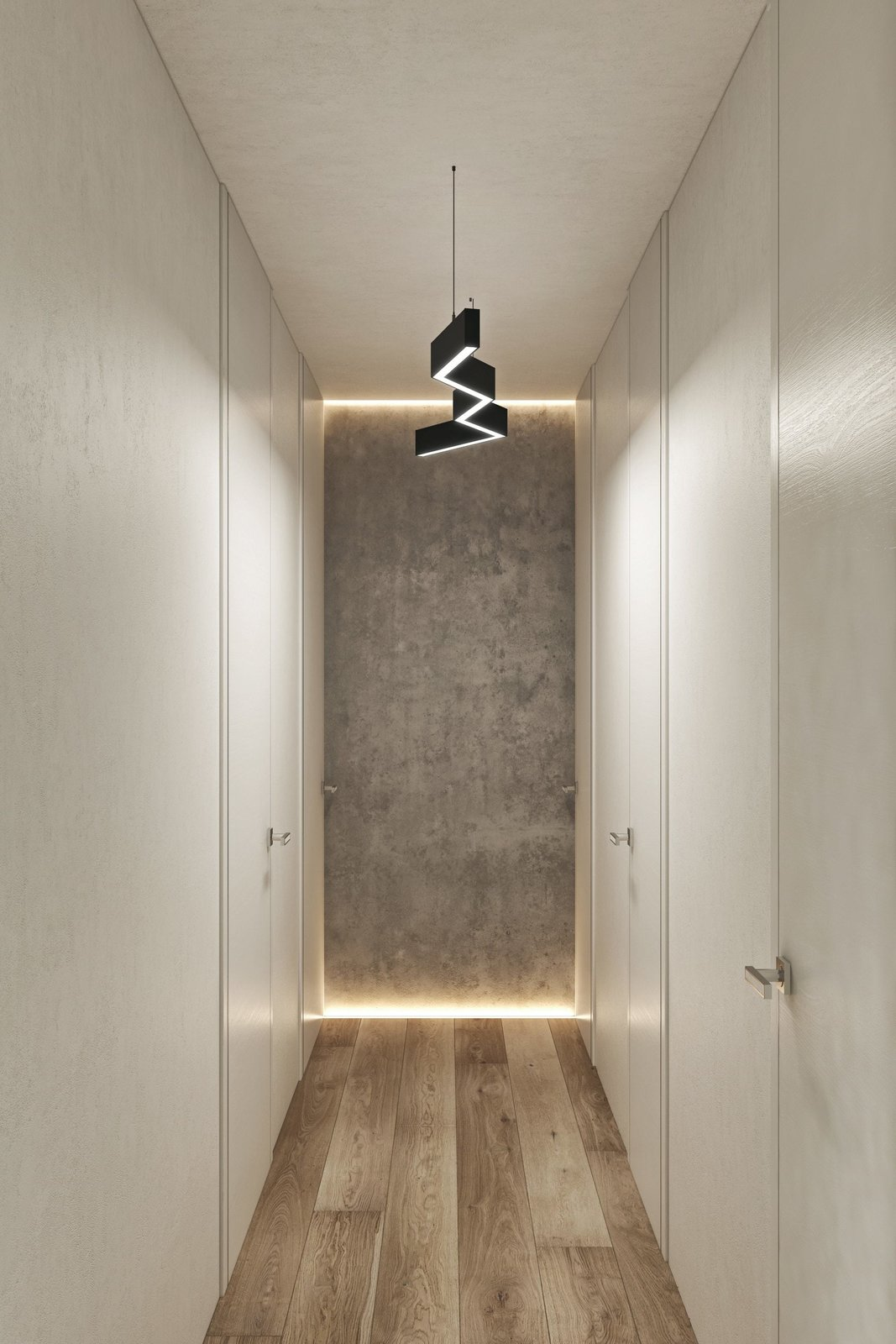Hallway  Interior Design Project in Contemporary Style by Geometrium
